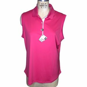 Footjoy pink sleeveless polo shirt